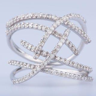 18 kt. White gold - Ring - 1.16 ct Diamond