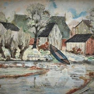 Theodor Werner Schröder (1910) - Kate im Seefeld an der Goselde