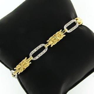 18 kt. White gold, Yellow gold - Bracelet - 0.50 ct Diamond
