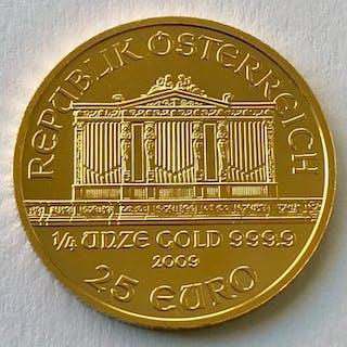 Österreich - 25 Euro 2009 - Wiener Philharmoniker - 1/4 oz - Gold