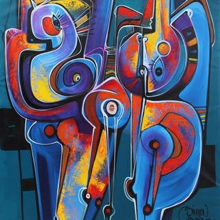 Simeón Gonzales - Siluetas en Azul Cielo