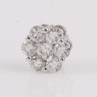 18 kt. White gold - Pendant - 1.00 ct Diamond