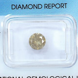 Diamond - 1.01 ct - Brilliant - Natural Fancy Grayish Brown - I1
