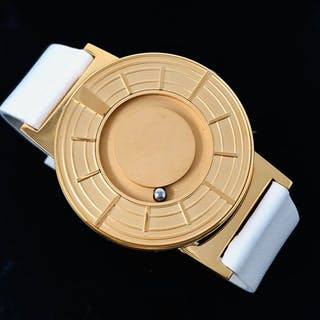 Eone - Bradley Edge Rose Gold with Italian Leather Strap...