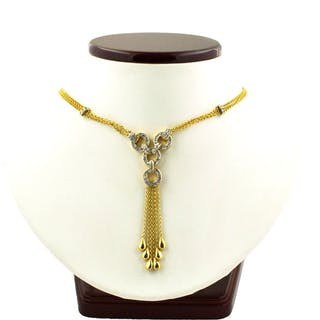 Luxury Cocktail - 18 kt. White gold, Yellow gold - Necklace Diamond