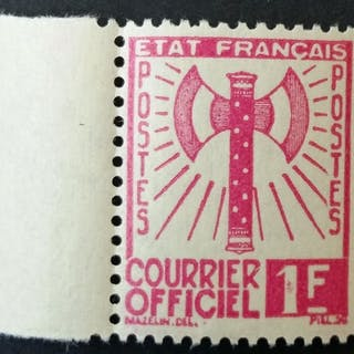 France 1943 - Francisque, 1f pink - Yvert Service 6