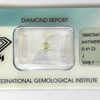 1 pcs Diamond - 0.41 ct - Brilliant - J - VVS1
