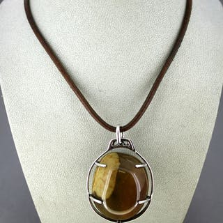 Hermés - 925 Silver - Necklace with pendant Agate