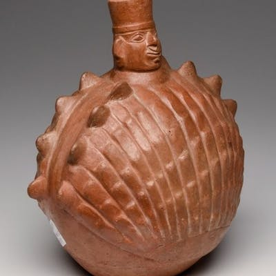 Pottery - Shell vessel - Moche culture - Peru
