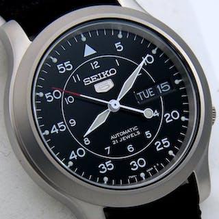 "Seiko - Automatic 21 jewels Black ""Military Style"" -..."