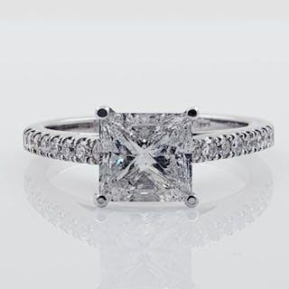 14 kt. White gold - Ring - Clarity enhanced 2.38 ct Diamond
