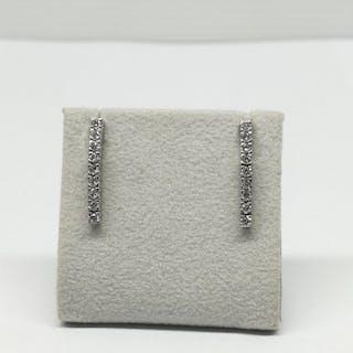 18 kt. White gold - Earrings - 0.54 ct Diamond