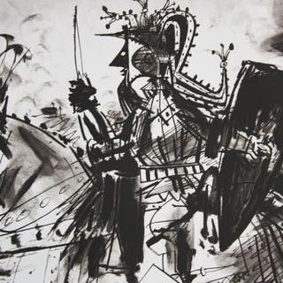 Pablo Picasso (after) - Cavalier en Armure