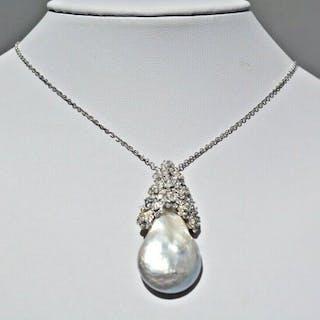 18 kt. White gold - Necklace - 2.00 ct Diamond - Diamonds