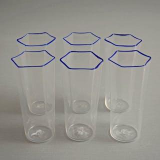 Attr. MVM Cappellin - Bicchieri esagonali (6) - Vetro