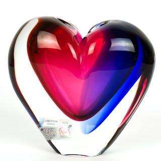 Michele Onesto (Murano) - Frasco de corazón sumergido - Vidrio