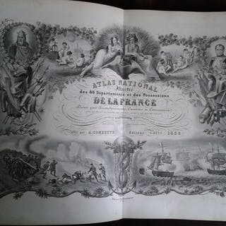 V. Levasseur - Atlas National de la France illustrée - 1858