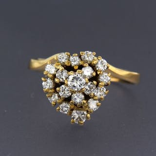 18 kt. Yellow gold - Ring - 1.00 ct Diamond