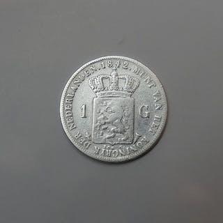 The Netherlands - 1 Gulden 1842b (Langer borstbeeld) Willem II- Silver