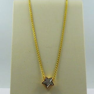 18 kt. Pink gold - Necklace with pendant - 0.12 ct Diamond