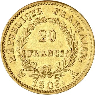 France - 20 Francs 1808-A Napoléon I - Gold