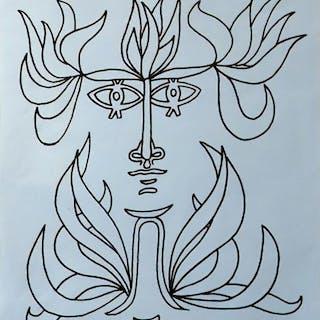 Jean Cocteau - Jean Cocteau à la Galerie Verrière - 1971