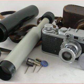 FED Prachtig Russische kaveltjeFed Type 1D uit 1939/41 en een verrekijker\t