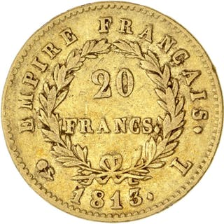 France - 20 Francs 1813-L Napoléon I - Gold