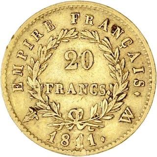 France - 20 Francs 1811-W Napoléon I - Gold