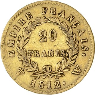 France - 20 Francs 1812-W Napoléon I - Gold