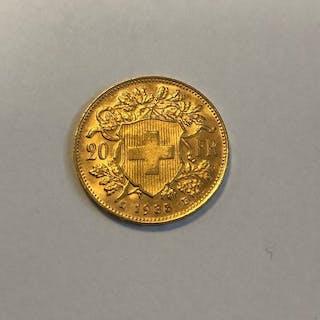 Switzerland - 20 Francs 1935 'Vreneli'- Gold