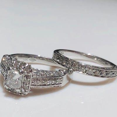 14 carats Or blanc - Bague Diamant