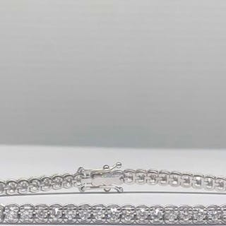 18 kt. White gold - Bracelet - 1.80 ct Diamond