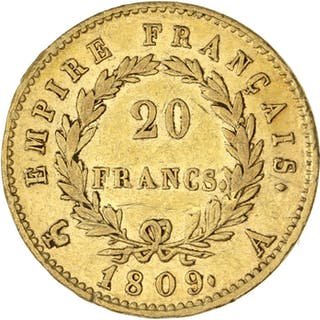 France - 20 Francs 1809-A Napoléon I - Gold