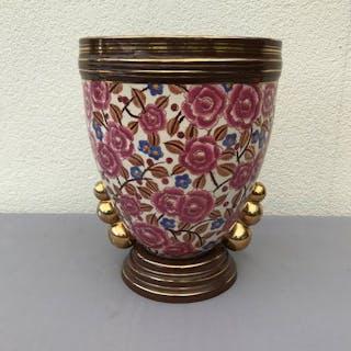 Boch Frères - Große Porzellan BOCH Vase - Porzellan