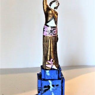 Tichè Porcellane d'Arte - Odalisque statue - Porcelain