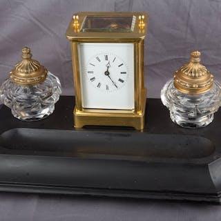 French travel alarm clock with ink set - Aiguilles - Moser Aparis