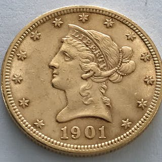 United States - 10 Dollar 1901 - Liberty Head - Gold