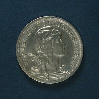 Portugal - República -50 Centavos - 1930 - Escassa- Alpaca