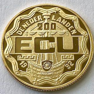 The Netherlands - 200 Ecu 1992 - Willem I. - Gold