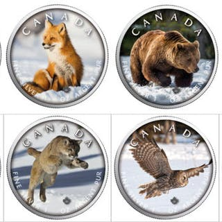 Canada - 5 Dollar 2019 Maple Leaf Trails of Wildlife...