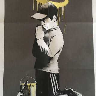 Banksy x Don't Panic - Forgive Us Our Trepasing