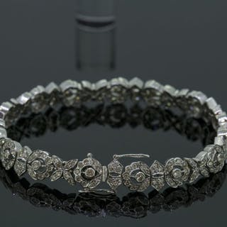 18 kt. White gold - Bracelet Diamond