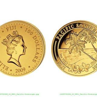 Fiji - 100 Dollar 2009 'Pacific Sovereign '- 1 Oz - Gold