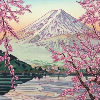 Xilografia originale (1) - Okada Koichi (1907-1991) - Mt