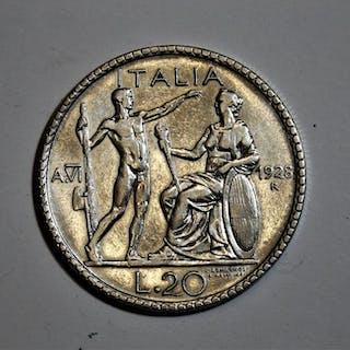 "Italia - 20 Lire 1928 ""Littore"" - Vittorio Emanuele III"