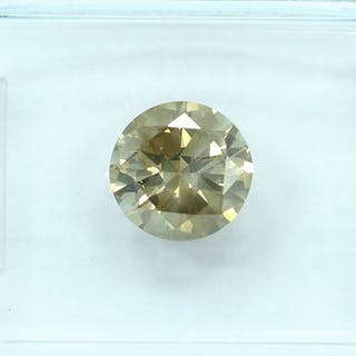 Diamant - 1.37 ct - Brillant - Natural Fancy Grayish Brown - I1