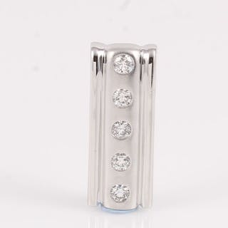 14 kt. White gold - Pendant - 0.20 ct Diamond