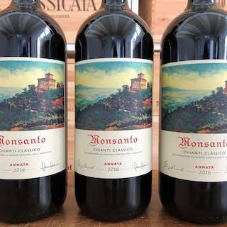 2016 Castello di Monsanto Chianti Classico - Toskana - 3 Magnumflasche (1,5 L)