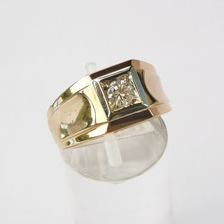 18 quilates Oro amarillo - Anillo Diamante - 0.4 ct